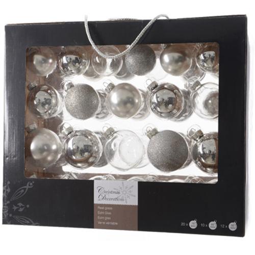 Set boules de Noël Decoris argent - 42 pcs