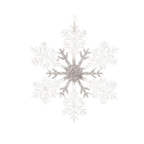 Glitter sneeuwvlok hangertje 32cm