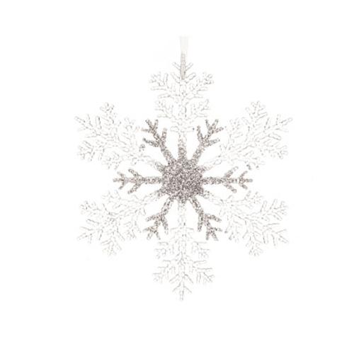 Pendentif flocon de neige avec paillettes  32cm