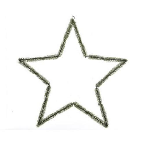 Decoris Open ster groen 39 cm