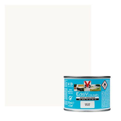 Peinture V33 'Easy Colours' blanc satin 125ml