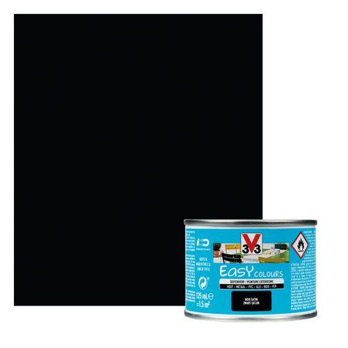 Peinture V33 'Easy Colours' noir satin 125ml