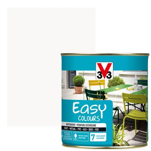 Peinture multi-supports V33 Easy Colours blanc satiné 500ml