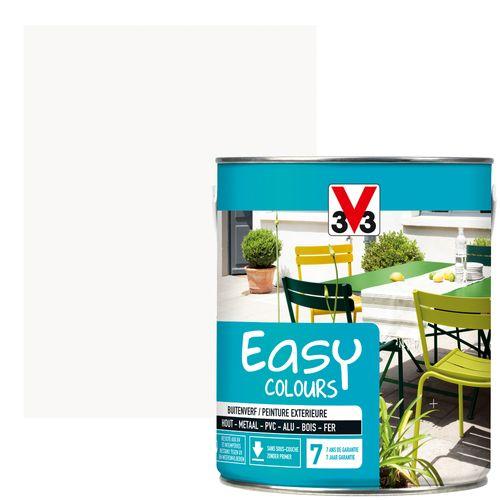 Peinture V33 'Easy Colours' blanc satin 2,5L