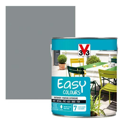 Peinture V33 'Easy Colours' gris galet satin 2,5L