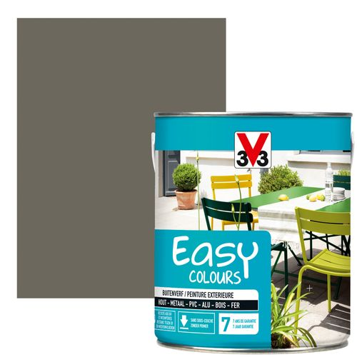 Peinture V33 'Easy Colours' taupe satin 2,5L