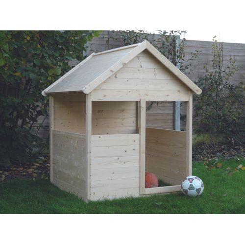 Maisonnette traditionnele en bois Solid 120x120cm