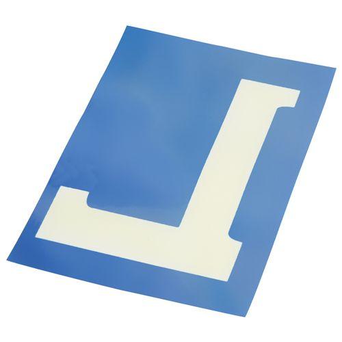 Autocollant électrostatique bleu «L» Carpoint 10x15cm