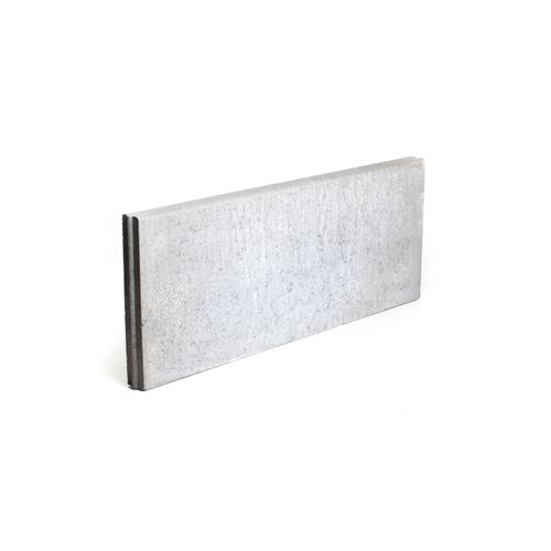 Bordure béton Coeck 100x40x6cm gris T&M