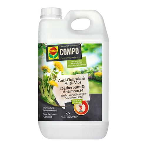 Herbicide et antimousse Compo Bio 2,5 L