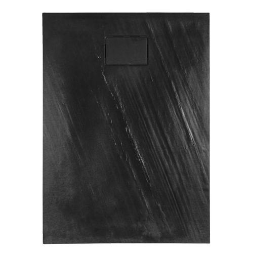 Receveur de douche Allibert Rockstone rectangulaire 120x90cm gris foncé mat
