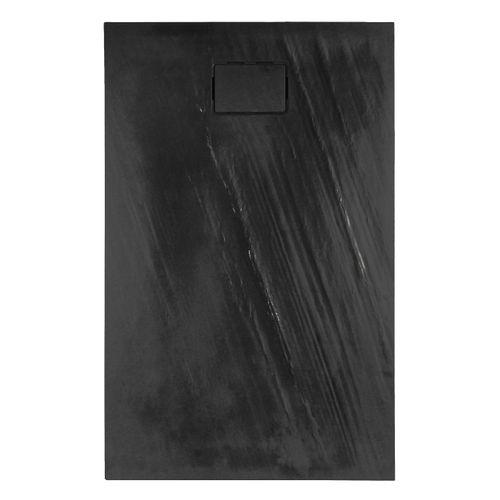 Receveur de douche Allibert Rockstone rectangulaire 140x90cm gris foncé mat