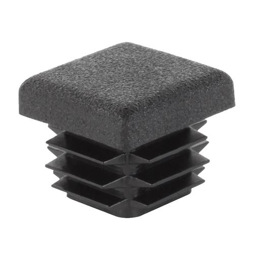 Bouchon de fermeture GAH Alberts pour tubes carrés pvc noir 25 x 25 mm - 4 pcs