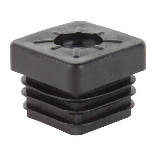 GAH Alberts stop met schroefdraad M8 kunststof zwart 20 x 20 mm - 4 stuks