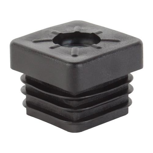 Bouchon de fermeture GAH Alberts avec filetage M8 pvc noir 20 x 20 mm - 4 pcs