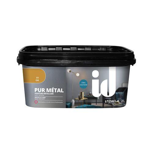 Peinture à effet métallique ID 'Pur Metal' or brillant 2L