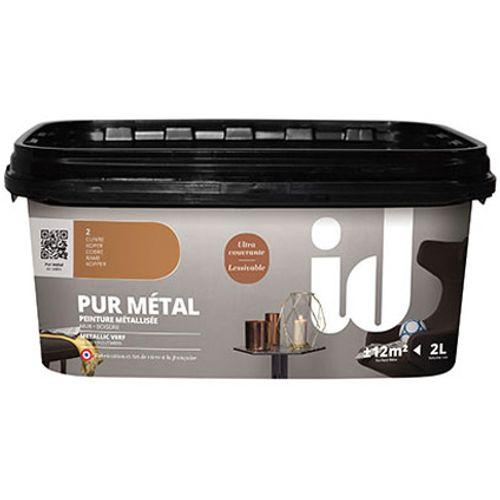 ID metaallook verf 'Pur Metal' kopper hoogglans 2L
