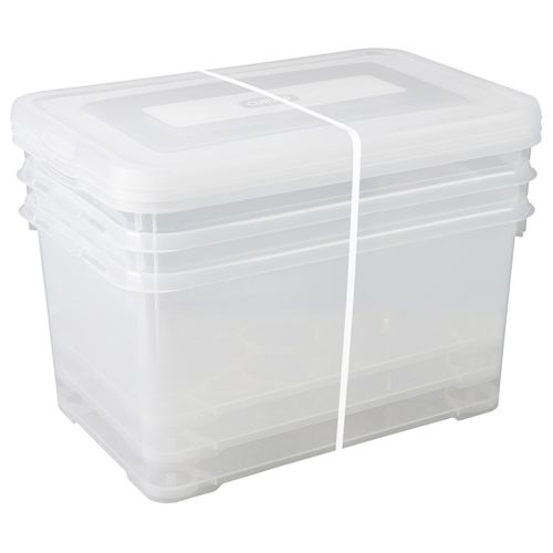 Allibert opbergbox Handy Box 50L transparant 3 stuks
