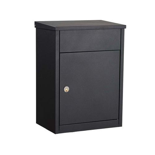 Boîte aux lettres Allux '500-Ruko' acier thermopoudré noir
