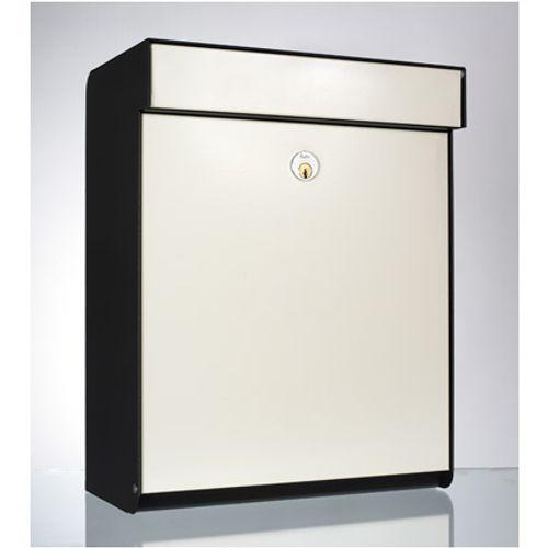 Boîte aux lettres Allux 'Grundform' acier thermopoudré blanc