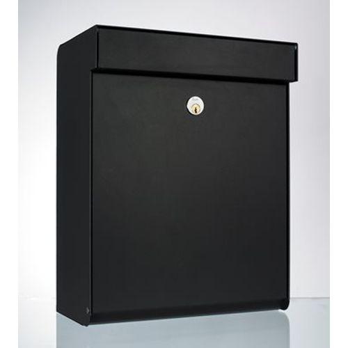 Boîte aux lettres Allux 'Grundform' acier thermopoudré noir