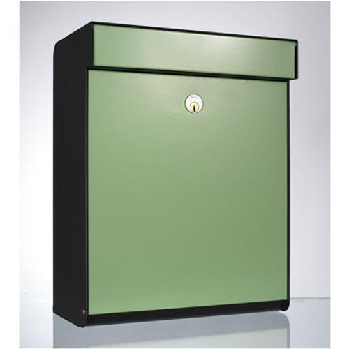 Boîte aux lettres Allux 'Grundform' acier thermopoudré vert