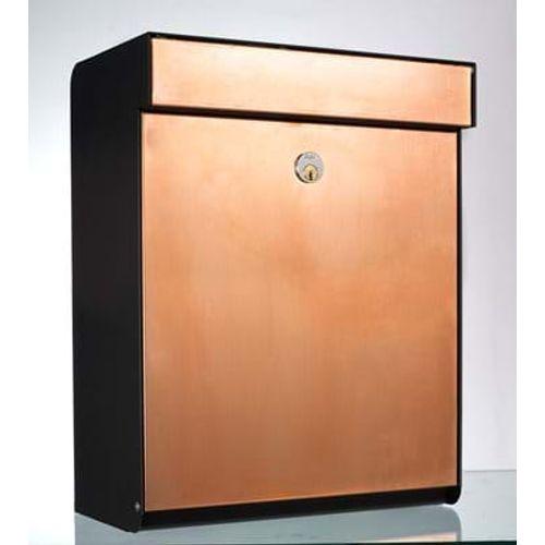 Boîte aux lettres Allux 'Grundform' cuivre orange