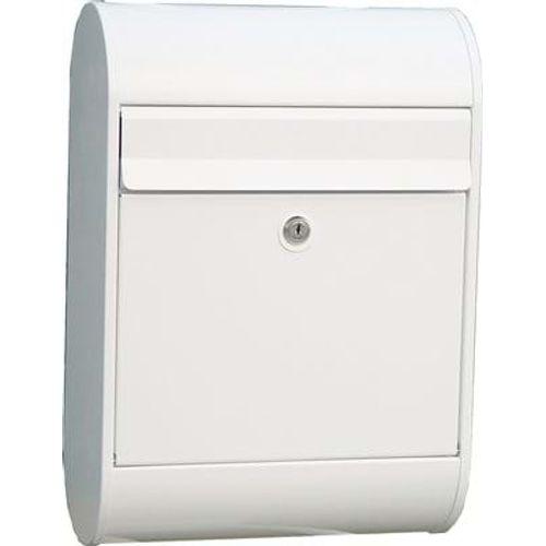 Allux brievenbus '5000' gepoedercoat staal wit