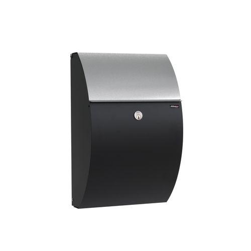 Boîte aux lettres Allux '7000' acier thermopoudré noir inox