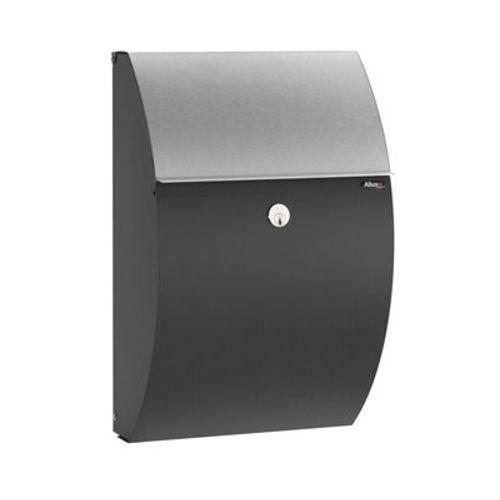 Boîte aux lettres Allux '7000' acier thermopoudré inox noir