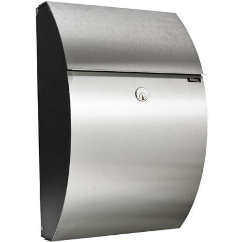 Boîte aux lettres Allux '7000' acier thermopoudré et inox noir
