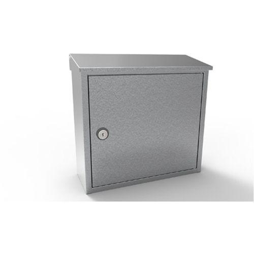 Boîte aux lettres Allux '400' acier galvanisé gris