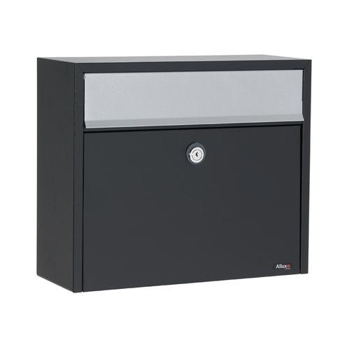 Boîte aux lettres Allux '150' acier thermopoudré noir