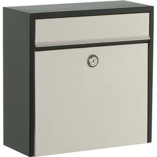 Boîte aux lettres Allux '250' acier thermopoudré noir gris