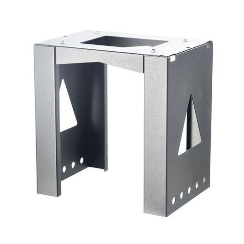 Support pour boîte aux lettres Allux '8002' acier thermopoudré gris
