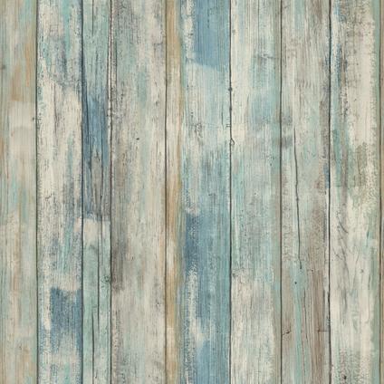 Muursticker RoomMates Decor Blue Distressed Wood