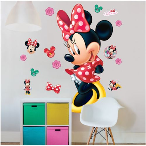 Muursticker Minnie Mouse Walltastic 120cm