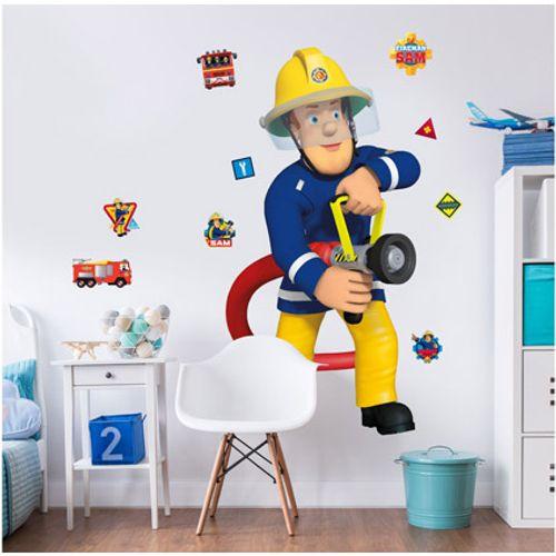 Muursticker Brandweerman Sam Walltastic 120cm
