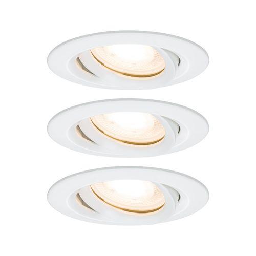 Spot encastré LED Paulmann Nova incliné 3x7W blanc