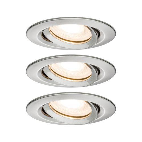 Spot encastré LED Paulmann Nova incliné fer 3x7W