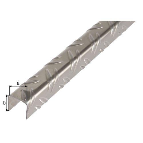 Profilé U GAH Alberts aluminium gris 2 m x 2,35 cm