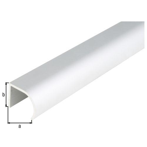 Profilé U GAH Alberts aluminium gris 2 m x 2,5 cm