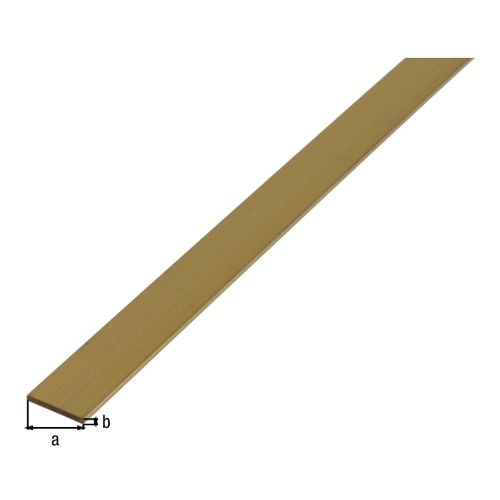 Profilé plat GAH Alberts laiton brun 1 m x 0,7 cm