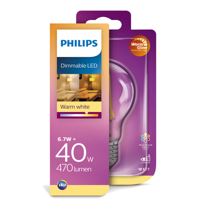 Ampoule LED Philips 'A60' 5,50W