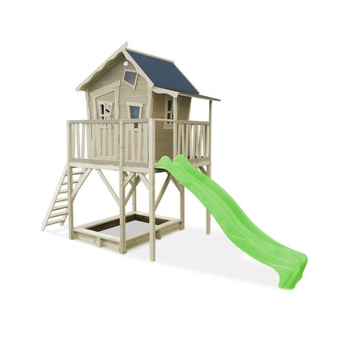 EXIT Crooky 750 houten speelhuis grijs-beige