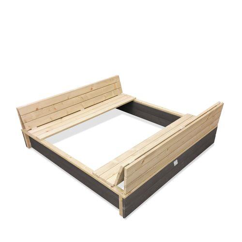 Bac à sable en bois Exit Aksent 136x132cm
