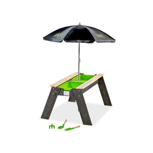 Exit zand- en watertafel Aksent L Deluxe met parasol en tuin gereedschappen 95 x 69 cm