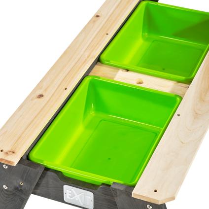 Table de pique-nique à eau et à sable Exit 'Aksent L' avec 1 banc 95 x 89 cm