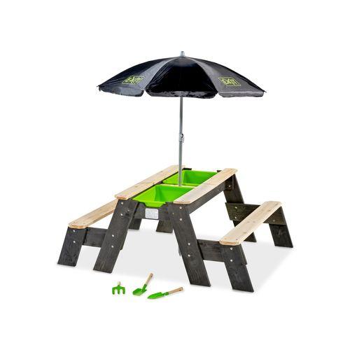 Table d'activités sable et eau / pique-nique avec parasol Exit Aksent