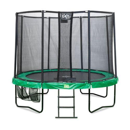 Exit trampoline all-in-1 Jump Contour ø 244 cm rond groen / grijs